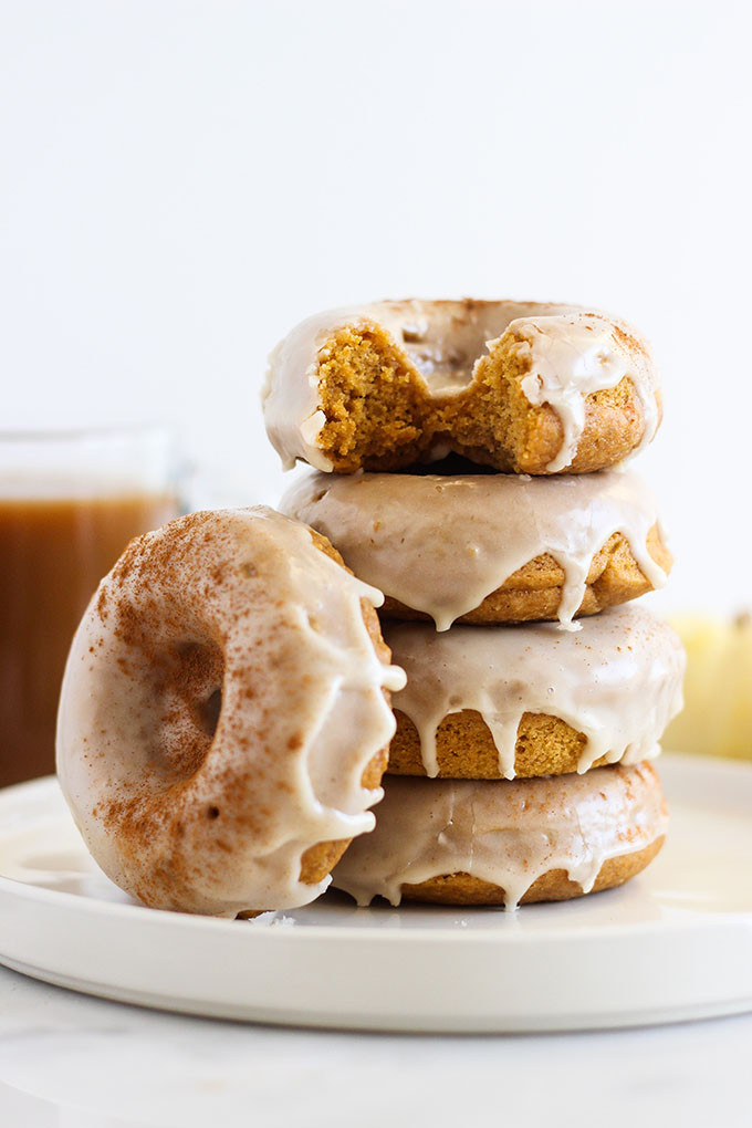 Pumpkin Donuts with Maple Frosting