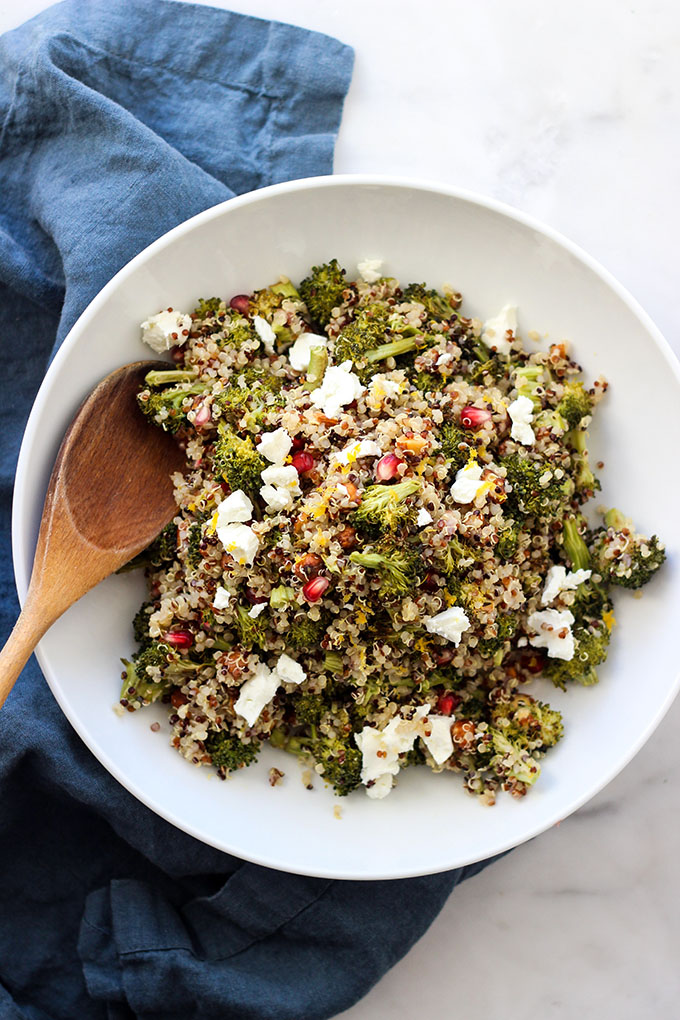 Roasted Broccoli Quinoa Salad | A delicious, healthy side dish for Thanksgiving
