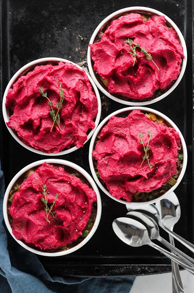 Vegetarian Lentil Shepherds Pie | Perfect for a vegetarian thanksgiving main dish!