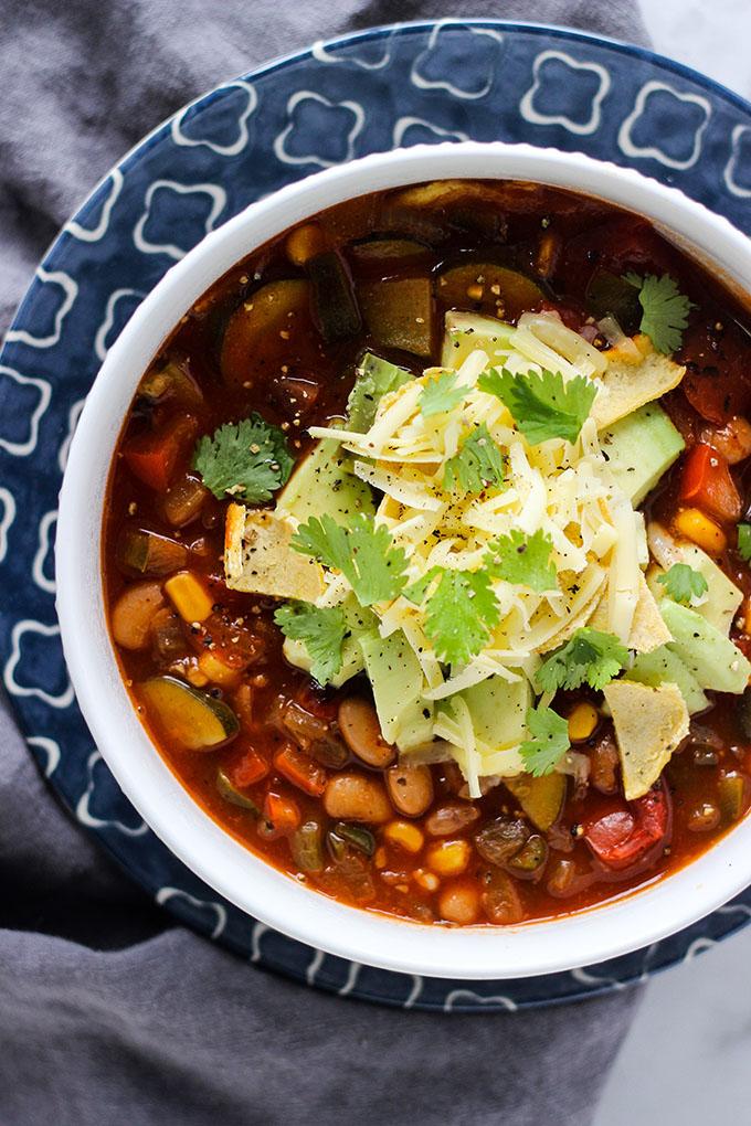 Vegetarian Enchilada Soup
