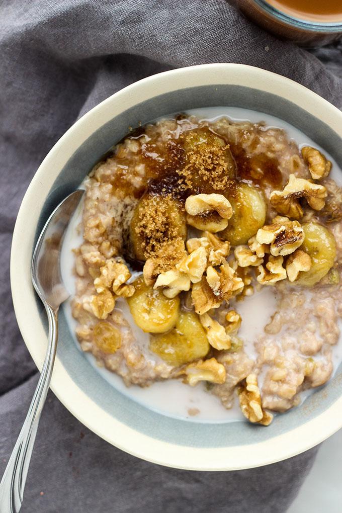 Banana Bread Oatmeal | Vegan, Healthy Breakfast