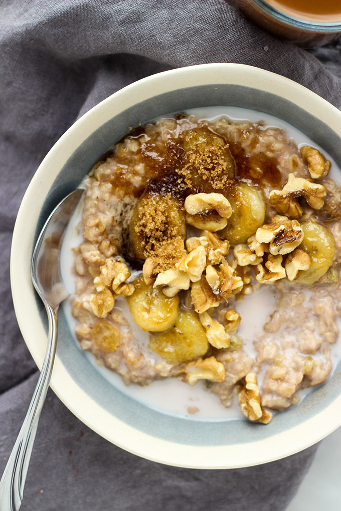 Banana Bread Oatmeal | Vegan, Healthy Breakfast