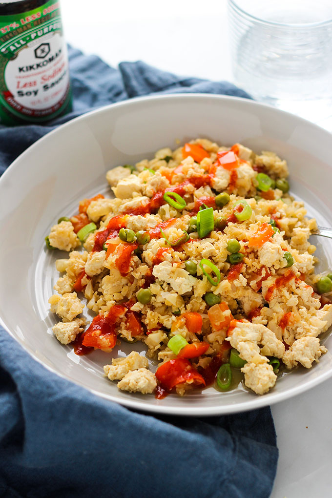 Cauliflower Fried Rice with Tofu | Vegan, Vegetarian, Grain Free