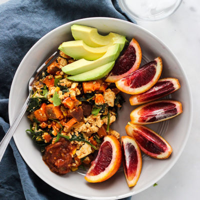 Chipotle Tofu and Sweet Potato Skillet
