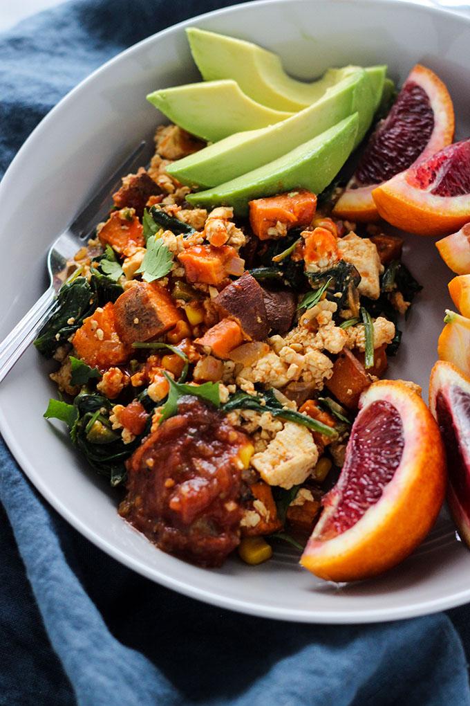 Chipotle Tofu and Sweet Potato Skillet   Vegan, Entree, Easy