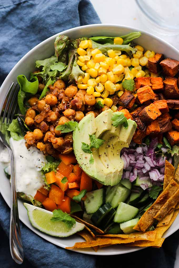 Chickpea Taco Salad | Vegan, Vegetarian, Gluten Free