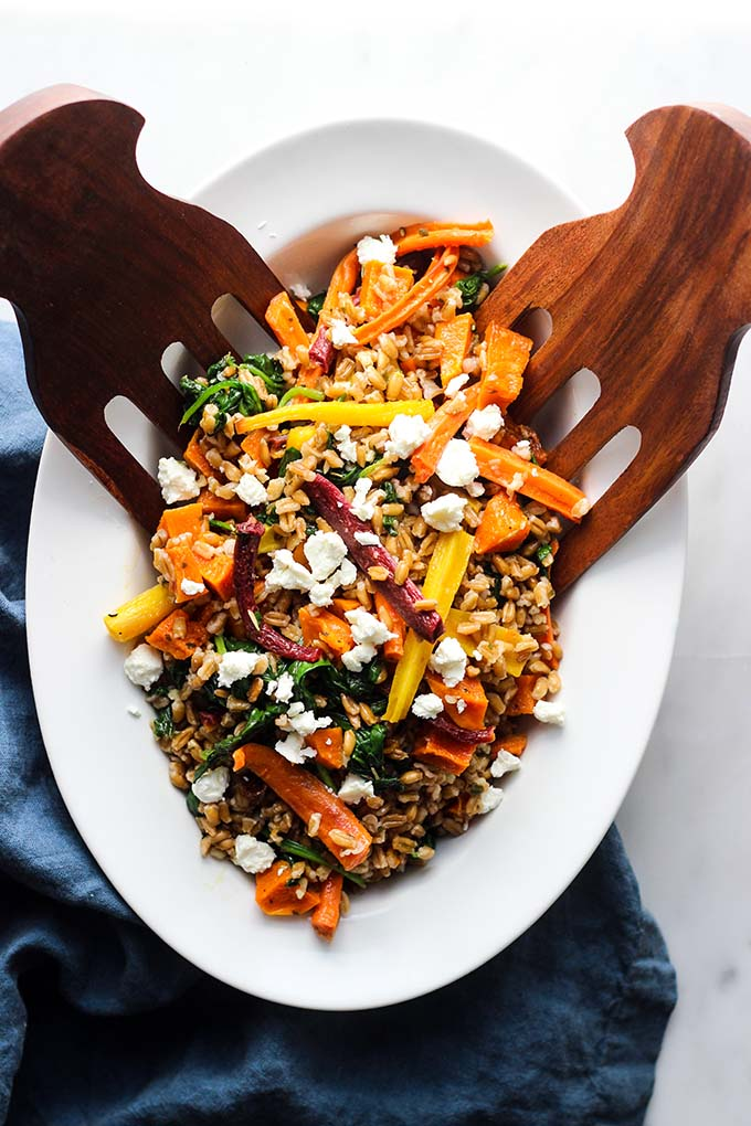 Warm Farro Salad with Roasted Root Vegetables 2