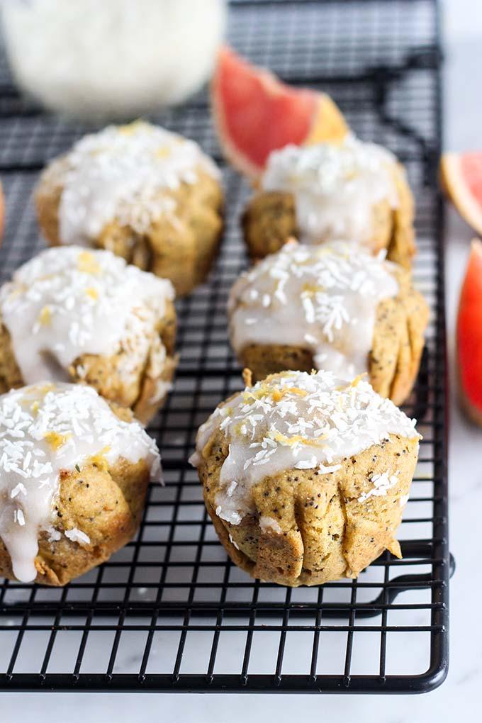 Vegan Grapefruit Poppyseed Muffins