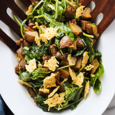 Roasted Potato Salad with Wilted Arugula