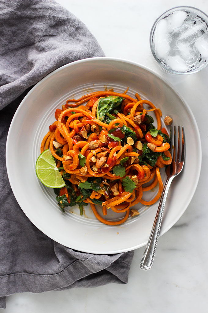 Spicy Asian Style Sweet Potato Noodles | Vegan, Simple, One-Pot