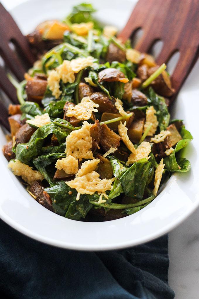 Roasted Potato and Wilted Arugula Salad