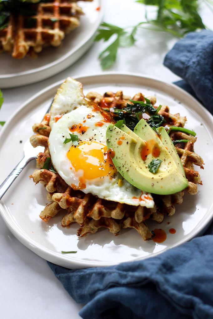 Savory Cheddar Zucchini Waffles
