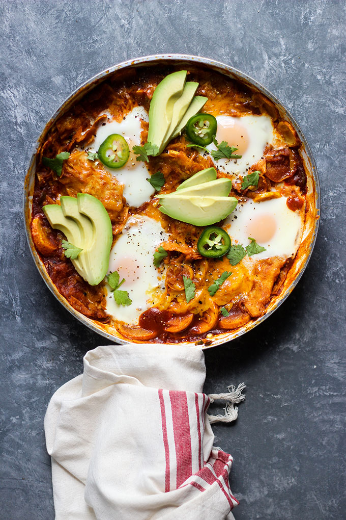 Skillet Chilaquiles with Eggs