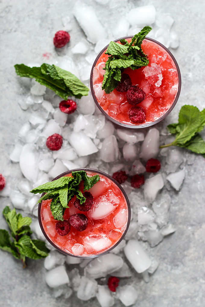 Rasberry Ginger Kombucha Cocktails