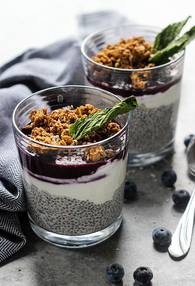 Blueberry Acai Chia Pudding