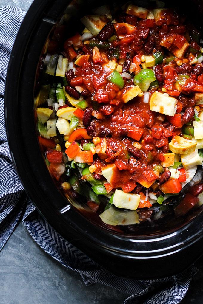 Vegetarian Slow Cooker Enchilada Casserole 2