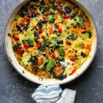 Swiss Chard Frittata with Tomatoes and Goat Cheese