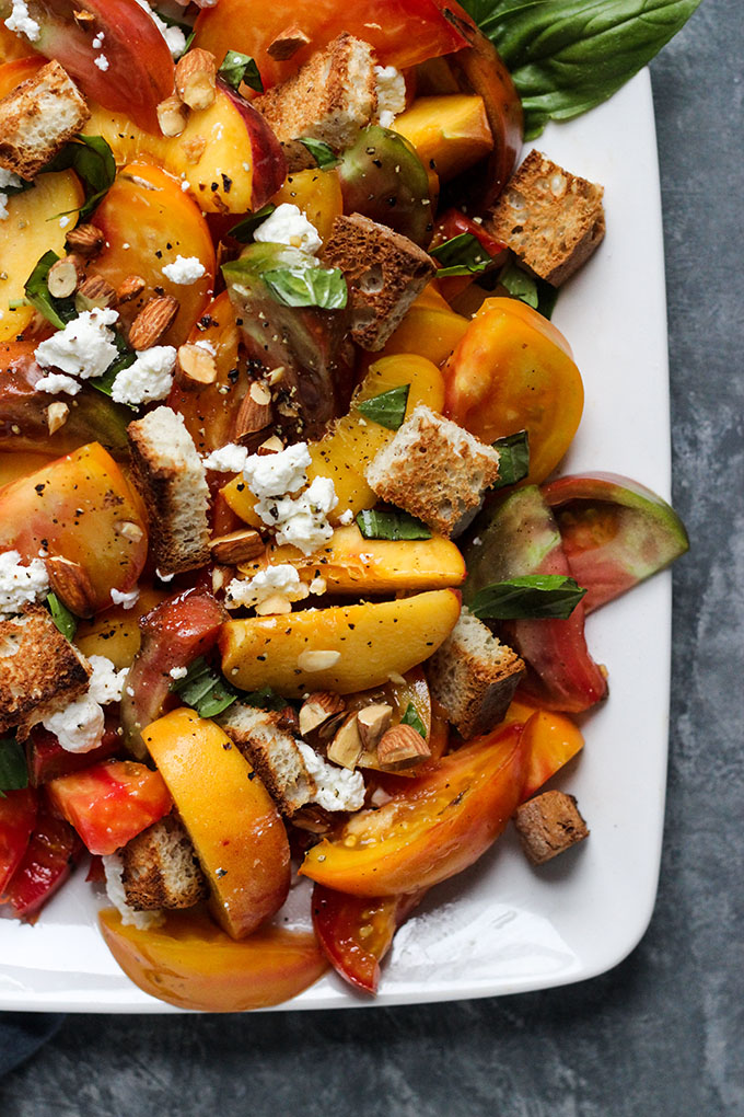Peach and Tomato Panzanella Salad 2