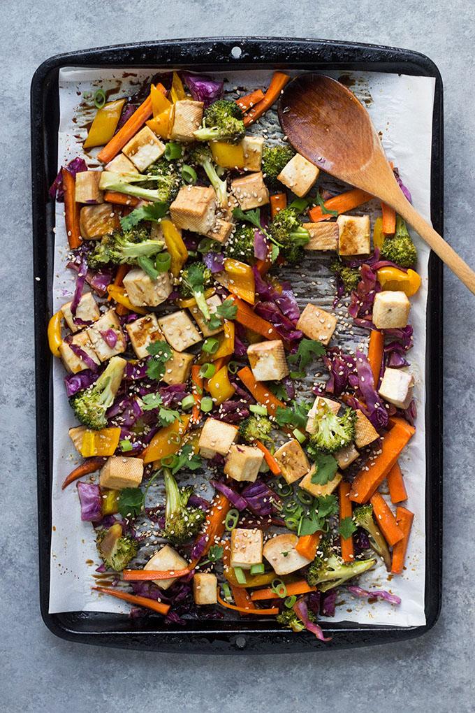 Teriyaki Tofu Sheet Pan Dinner | Vegan, Gluten-Free