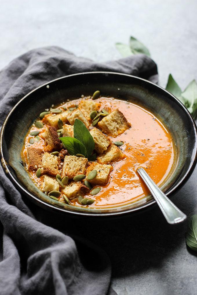 Thai Basil Tomato Soup | Less than 10 ingredients, Vegan