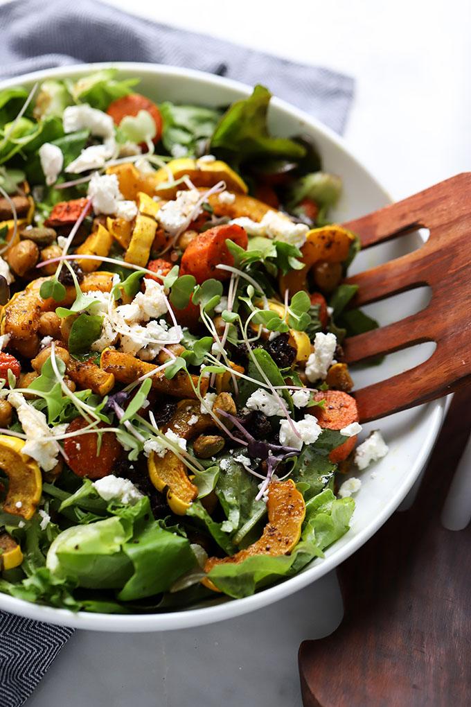Curry Roasted Fall Vegetable Salad