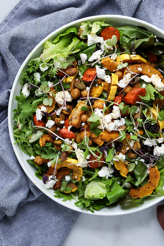 Curry Roasted Fall Vegetable Salad