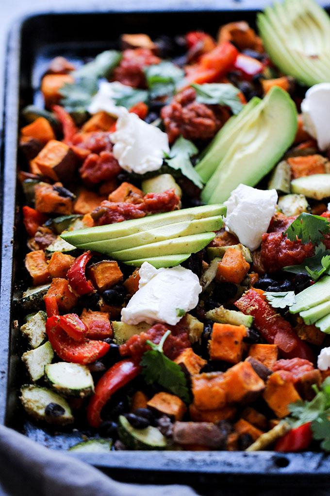 Southwest Sheet Pan Dinner | Simple, gluten free, and meatless dinner option