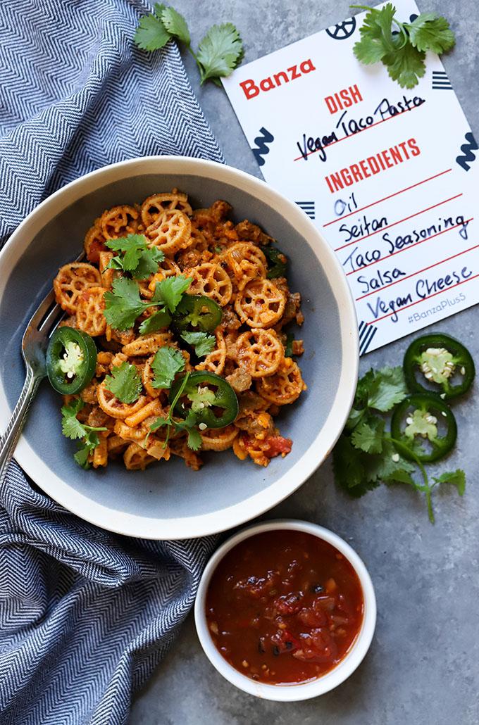 Vegan Taco Pasta | Easy, Weeknight Meal