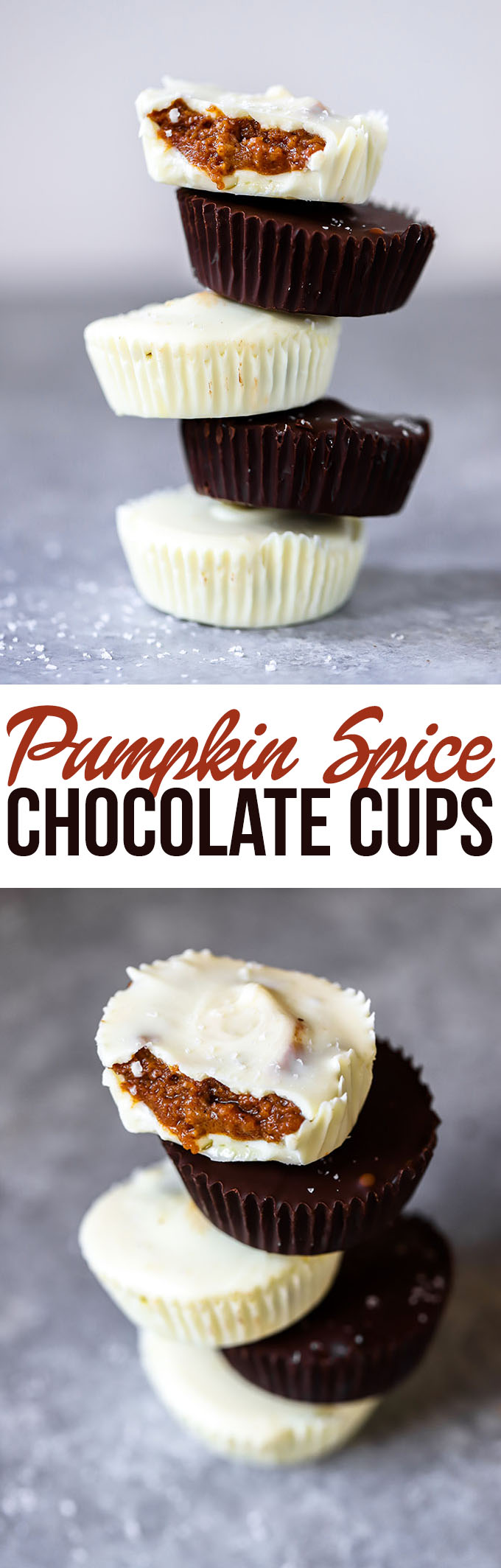 Pumpkin Spice Chocolate Cups | A delicious fall dessert that is simple to make