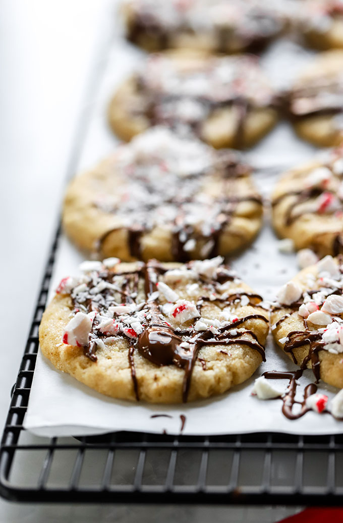 Vegan Peppermint Sugar Cookies | Simple to make and perfect for the holidays!