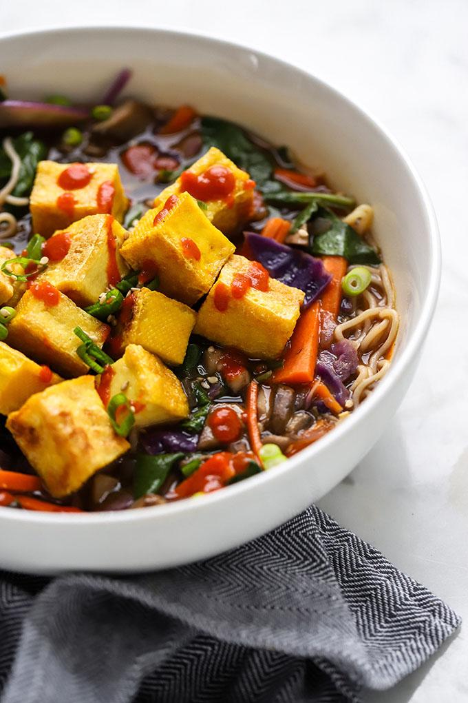Vegan Ramen Soup with Crispy Tofu 2