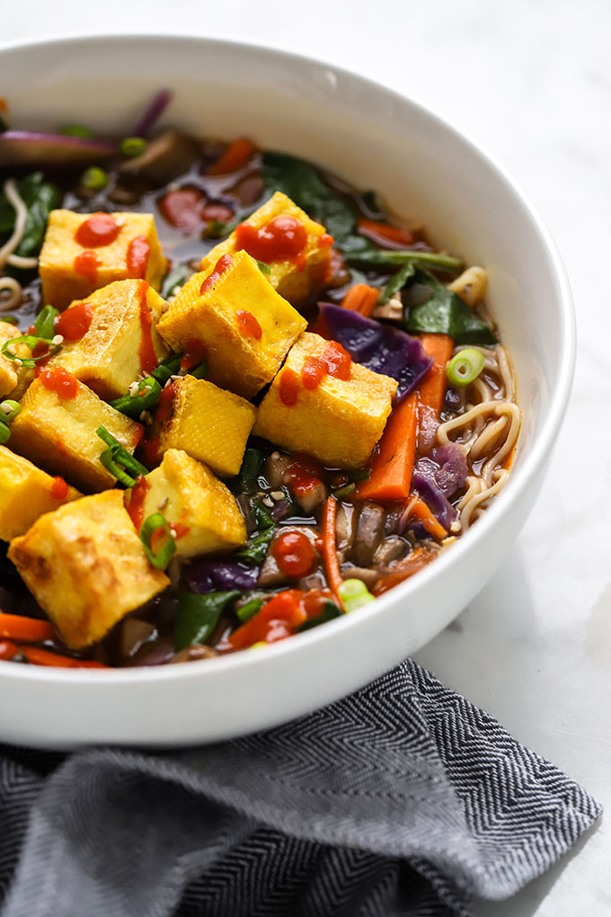 Vegan Ramen Soup with Crispy Tofu 2