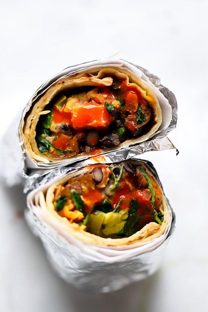 Vegetarian Black Bean and Sweet Potato Burrito