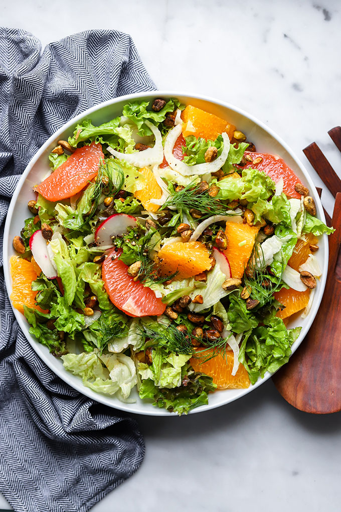 Simple Citrus and Fennel Salad | Dietitian Debbie Dishes