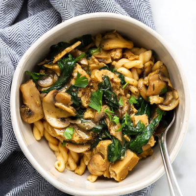 Quick and Easy Vegan Stroganoff