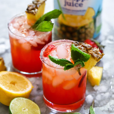 Strawberry Pineapple Margarita