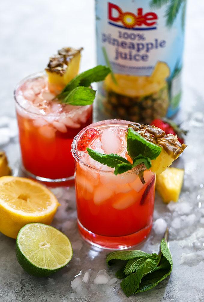 Strawberry Pineapple Margaritas