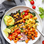 Vegan Taco Salad with Creamy Cashew Dressing
