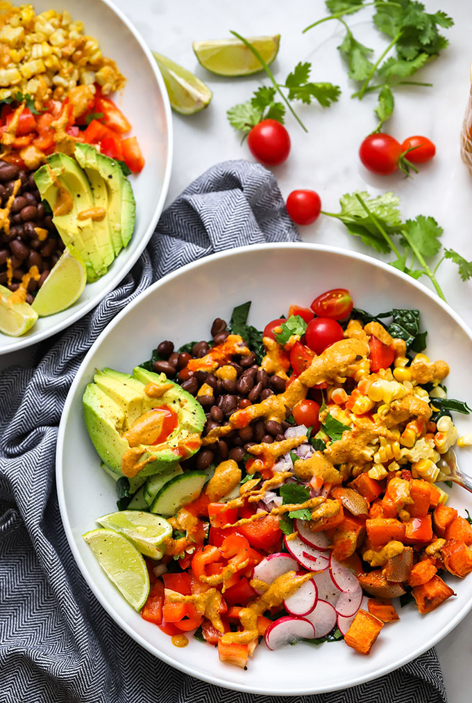 Vegan Taco Salad with Creamy Cashew Dressing