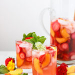 Peach and Strawberry Rosé Sangria | A simple sangria that is perfect for summer!