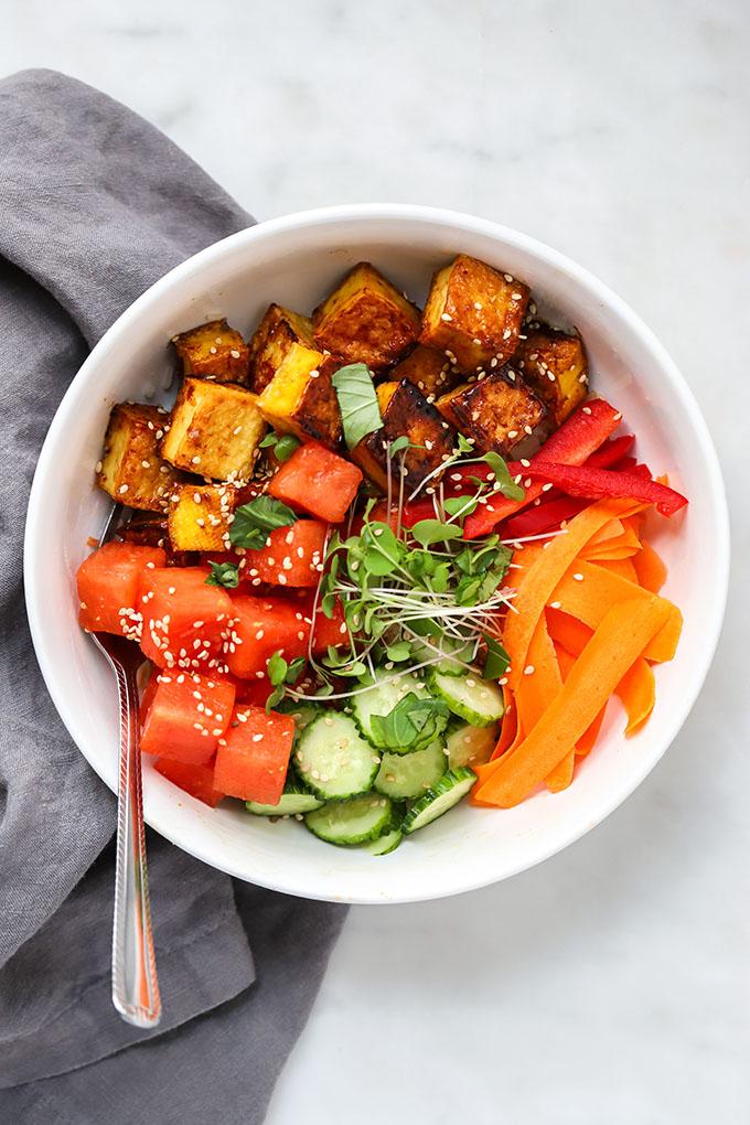 Vegan Watermelon Poke Bowl 2