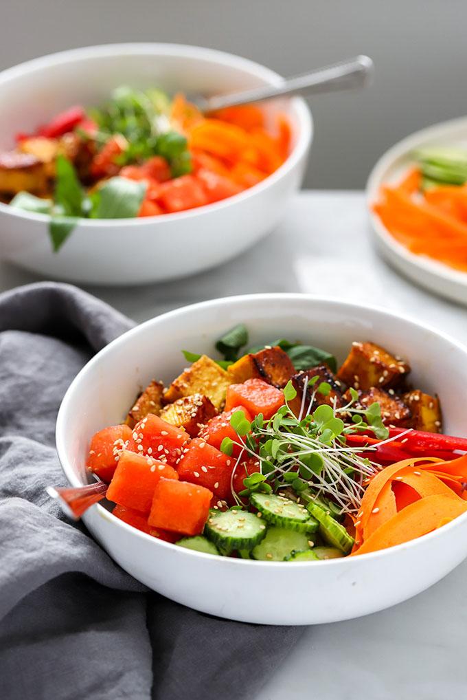 Vegan Watermelon Poke Bowl