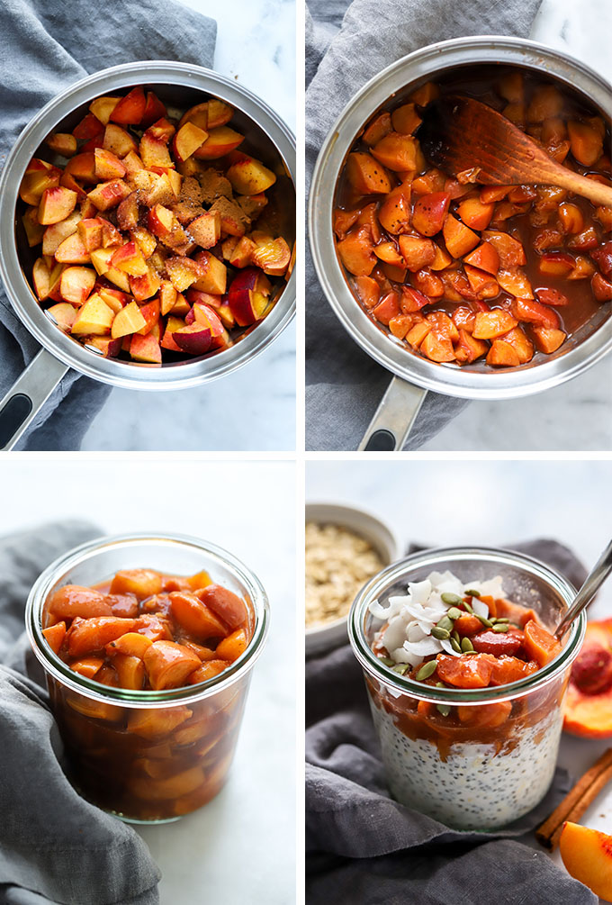 Simple Peach Compote Process