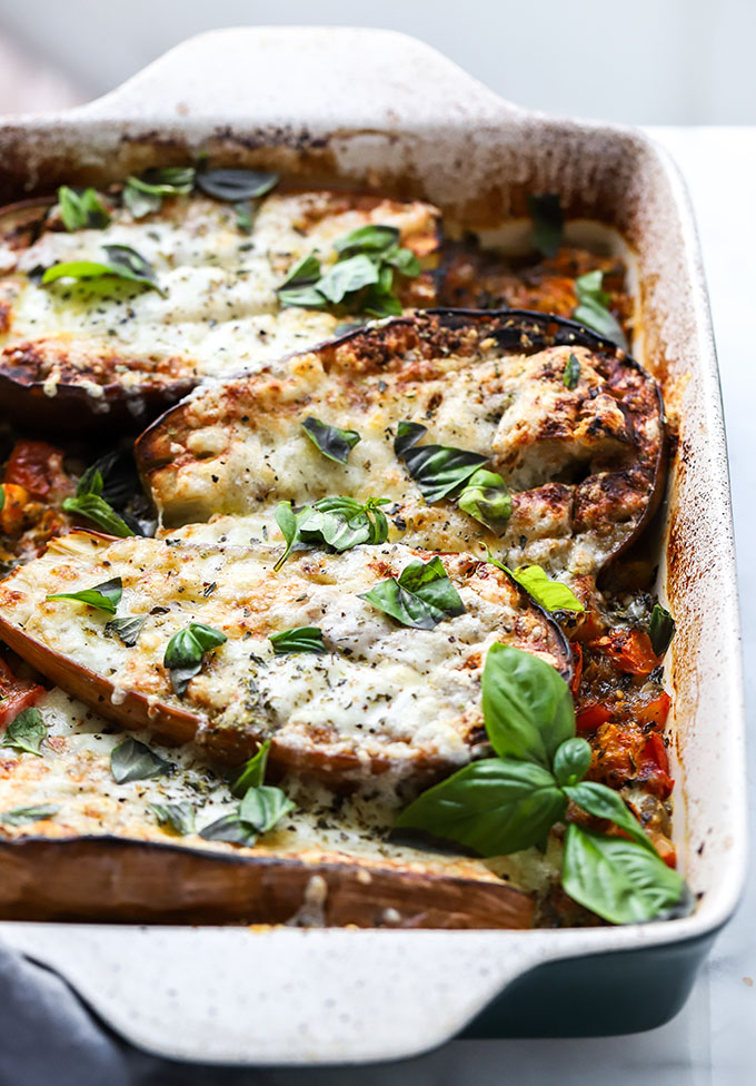 Tomato and Eggplant Bake | The perfect dish for using up the last of your summer produce!