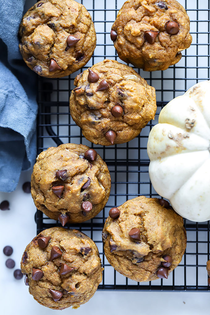 Vegan Pumpkin Chocolate Chip Muffins 2