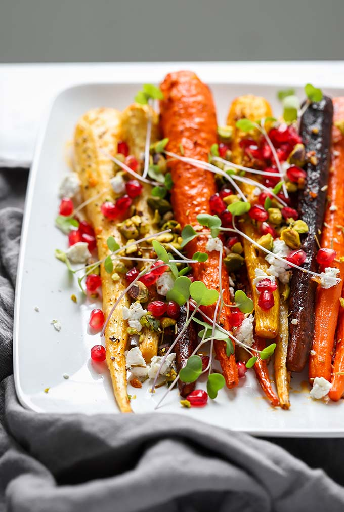 Rosemary Roasted Carrots | A simple but gorgeous side dish that is perfect for Thanksgiving!