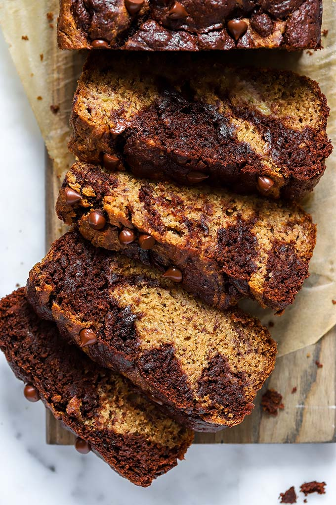 Vegan Chocolate Swirl Banana Bread